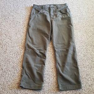 Mountain Hardwear olive green pants/jeans, EUC